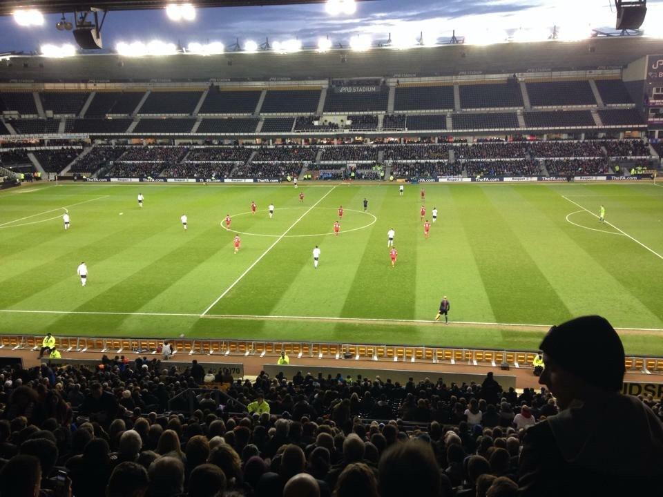 Pride Park Section F Row V Seat 360