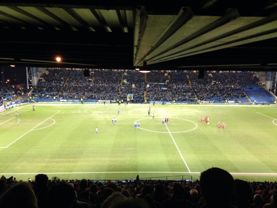 Hillsborough Stadium Section R1 Row 48 Seat 90