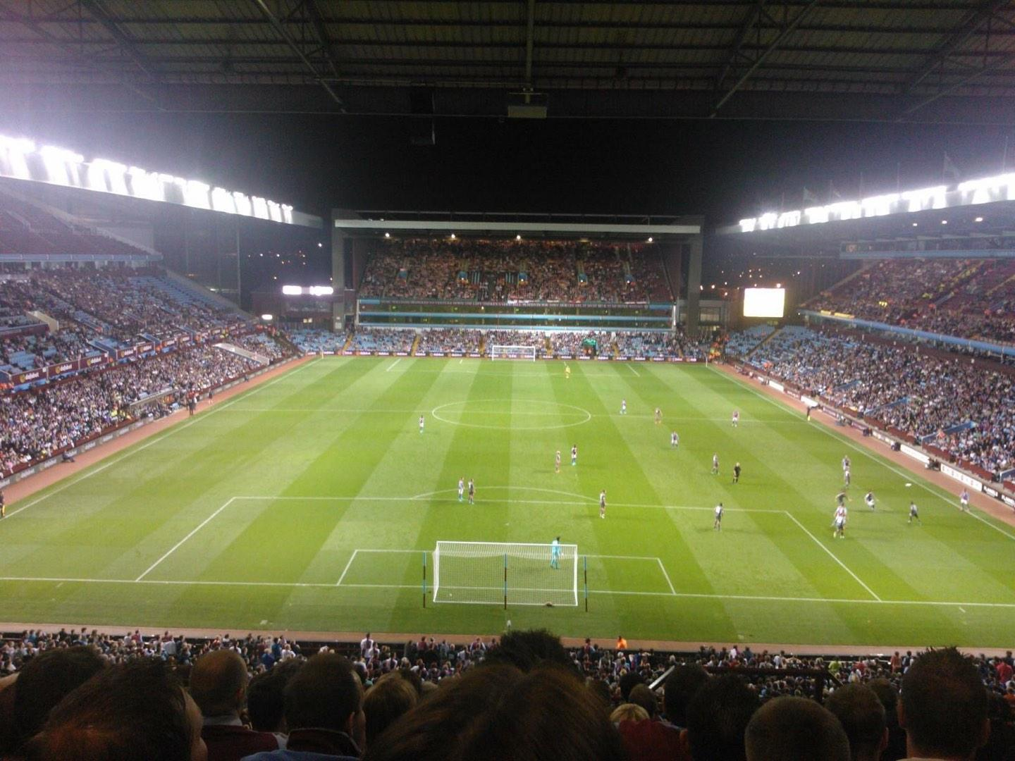 Villa Park Section K5 Row 10 Seat 124