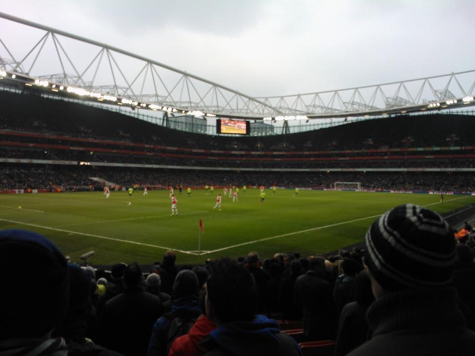 Emirates Stadium Section 21 Row 14 Seat 654