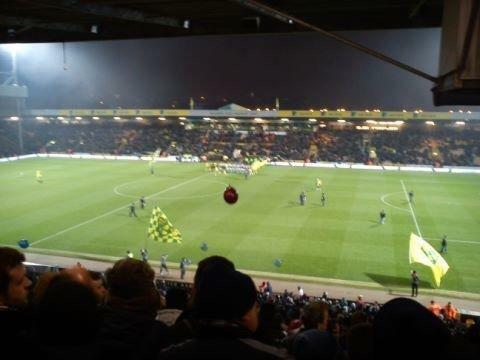 Carrow Road Section H Row NN Seat 56