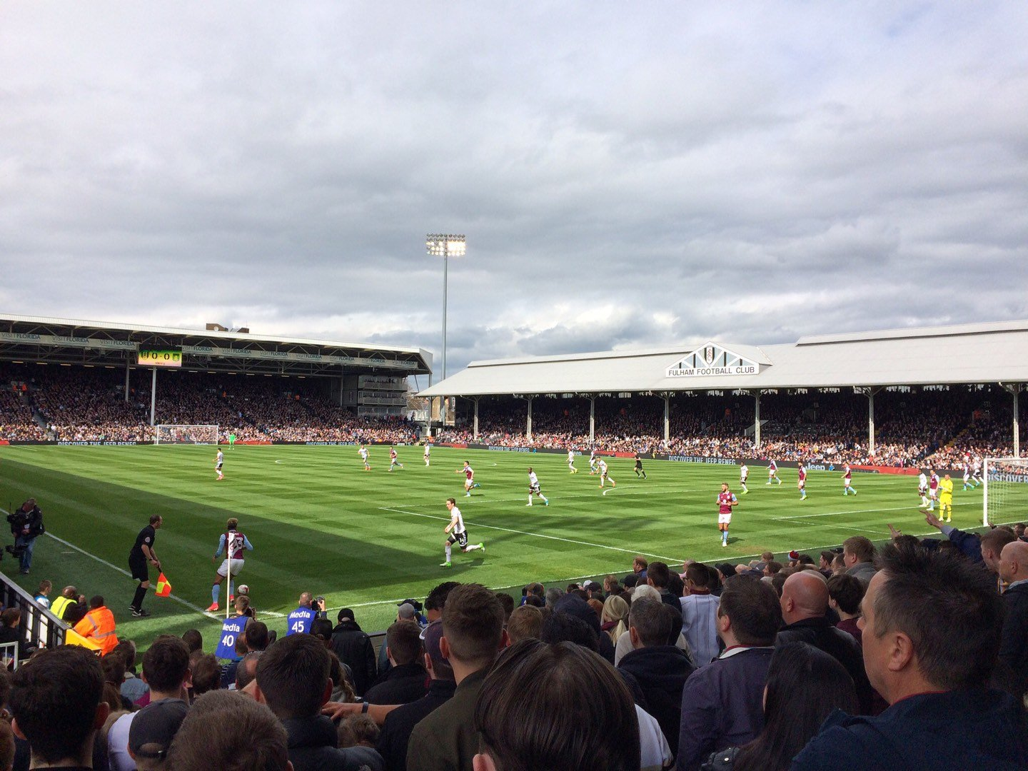 Craven Cottage Section P7 Row O Seat 155