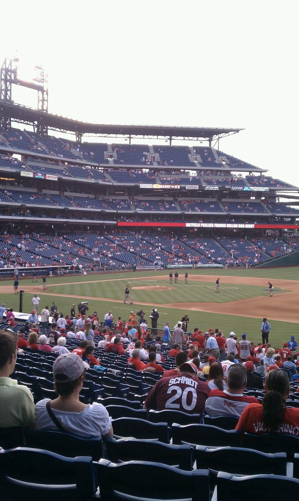 Citizens Bank Park Section 113 Row 33 Seat 15