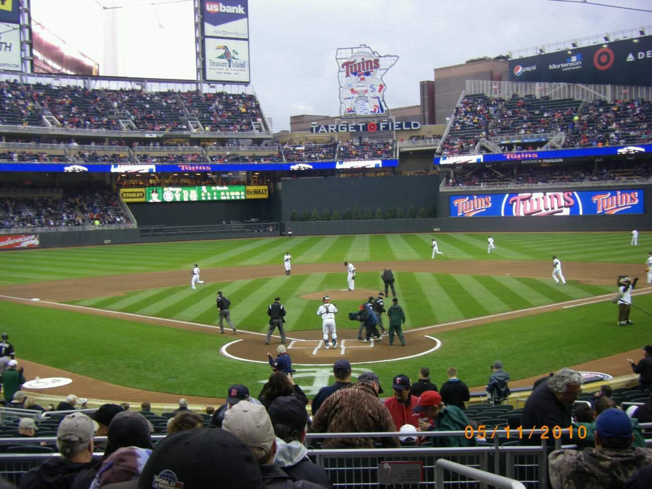 Target Field Section 114 Row 7