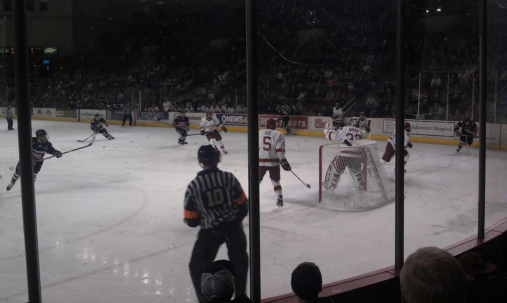 Magness Arena Section 7 Row 4 Seat 9
