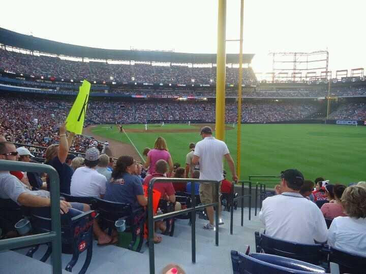 Turner Field Section 131 R Row 25 Seat 1