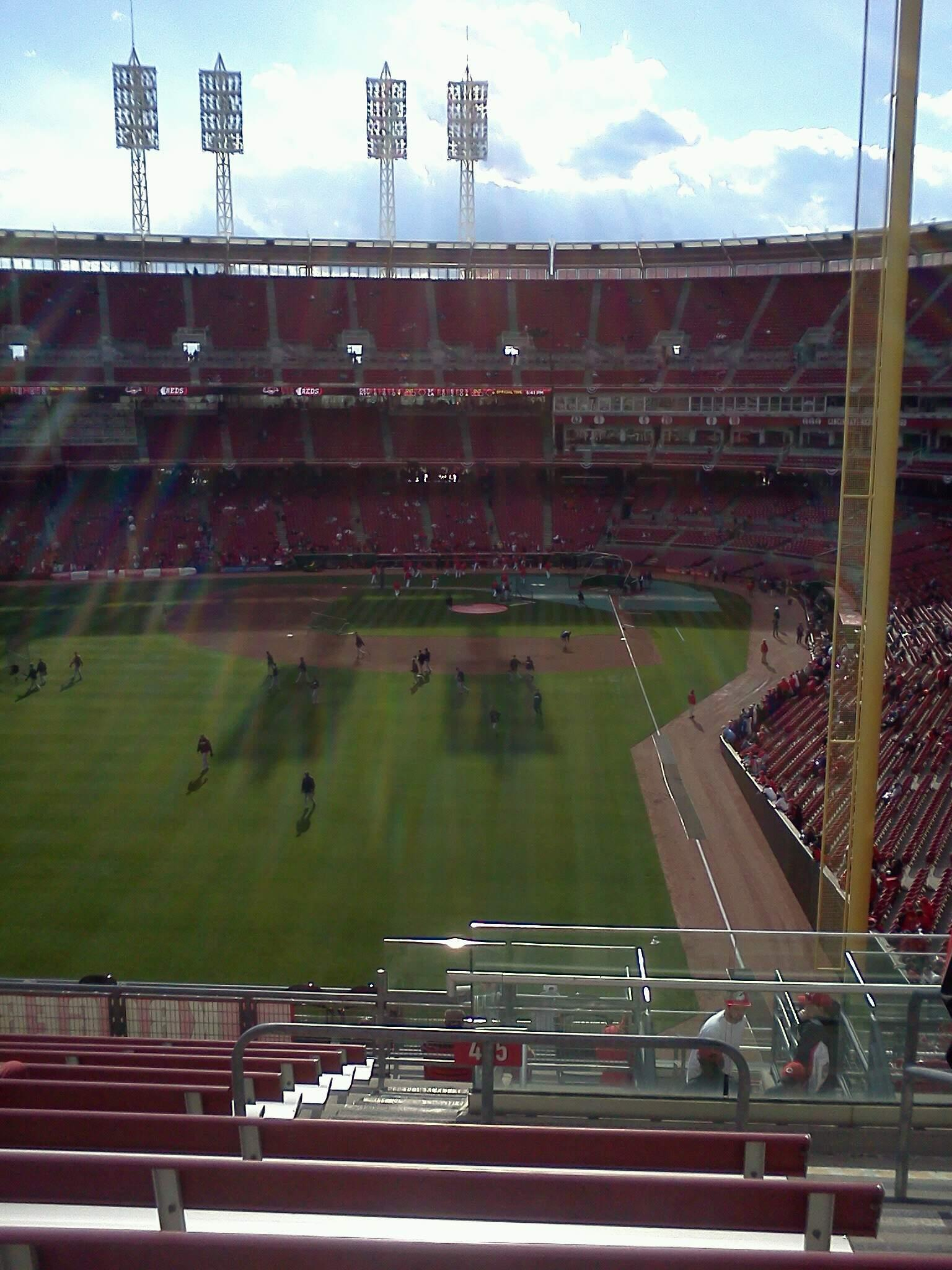 Great American Ball Park Section 405 Row q Seat 2