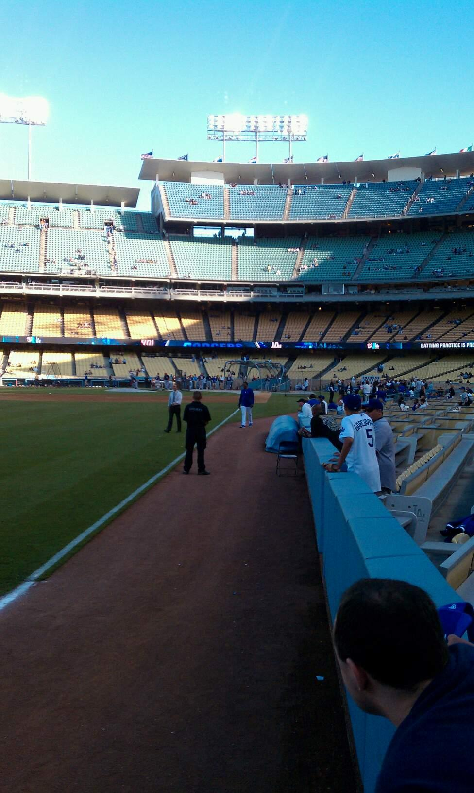 Dodger Stadium Section 49FD Row AA Seat 1