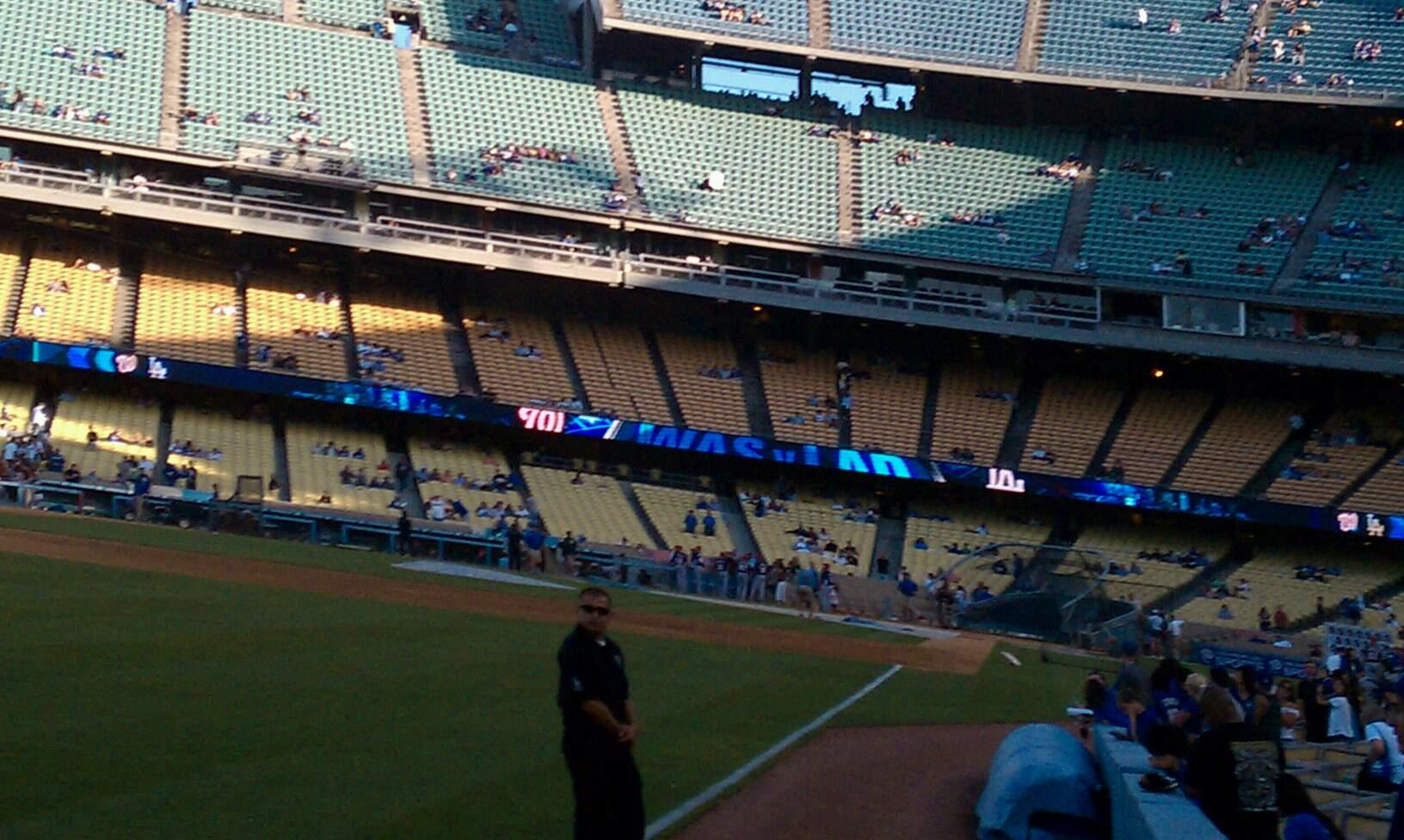 Dodger Stadium Section 49FD Row AA Seat 01