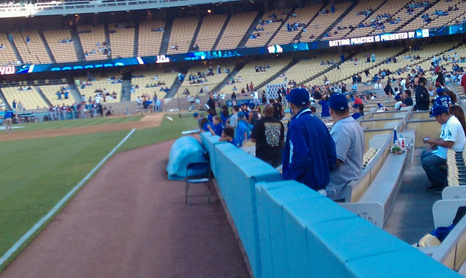 Dodger Stadium Section 49FD Row AA Seat 01