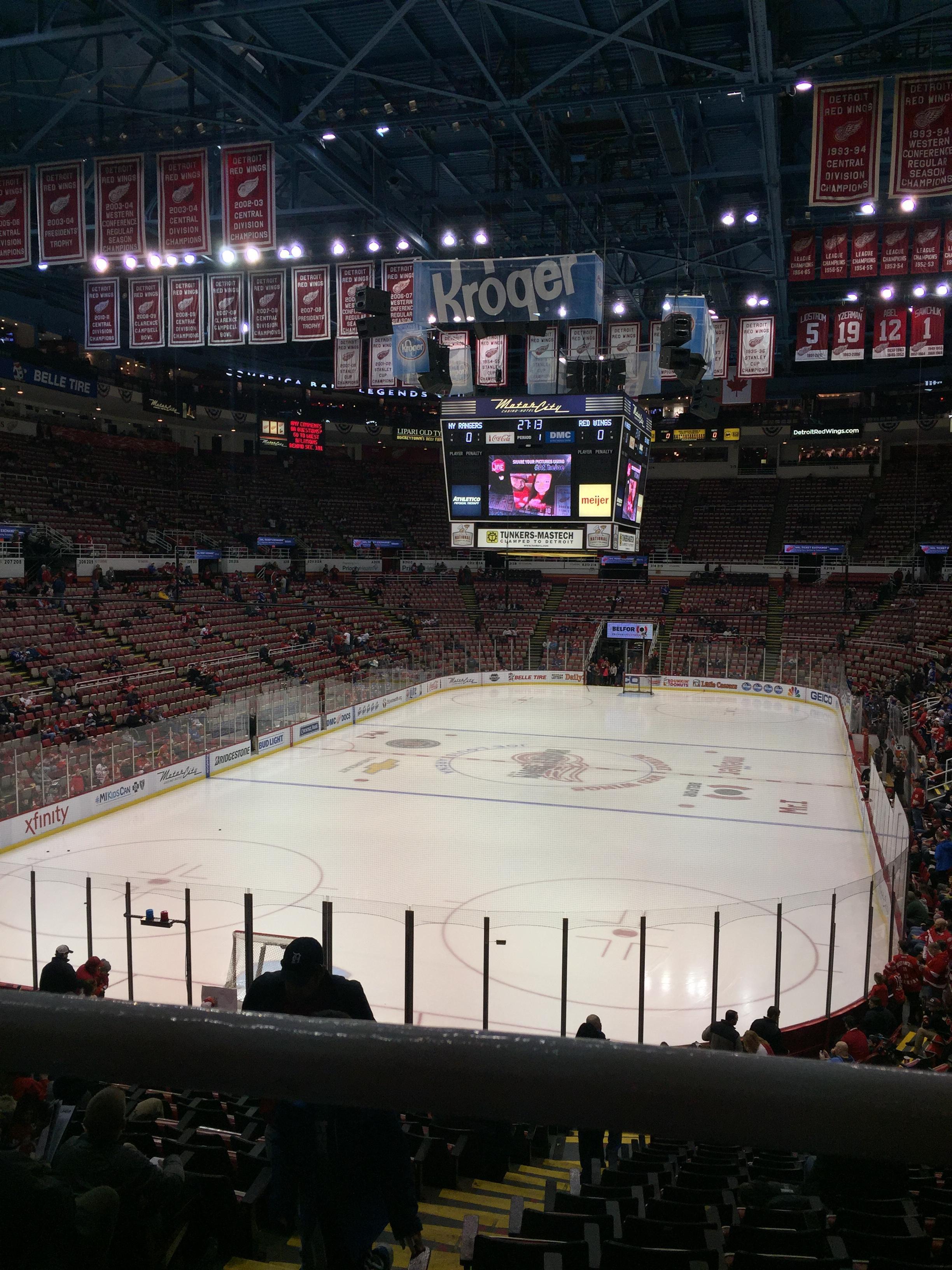 Joe Louis Arena Section 227B Row 1 Seat 15
