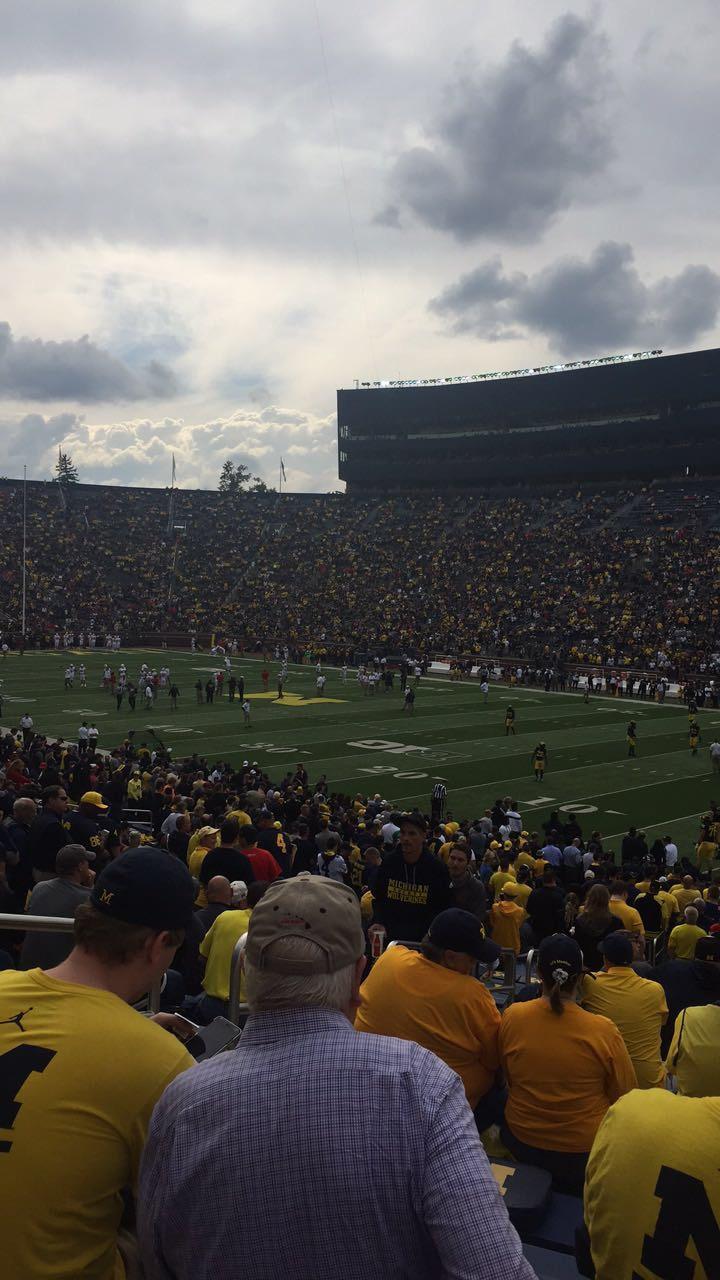 Michigan Stadium Section 40 Row 36 Seat 14