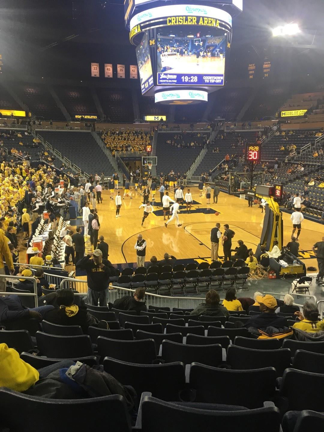 Crisler Center Section 116 Row 13 Seat 8