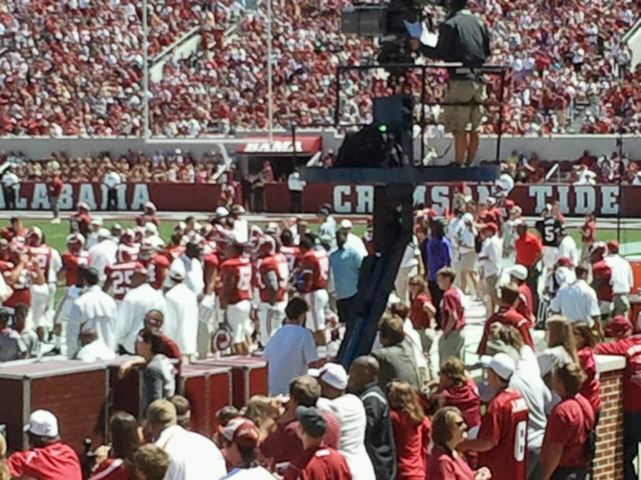 Bryant-Denny Stadium Section N Row 15 Seat 2