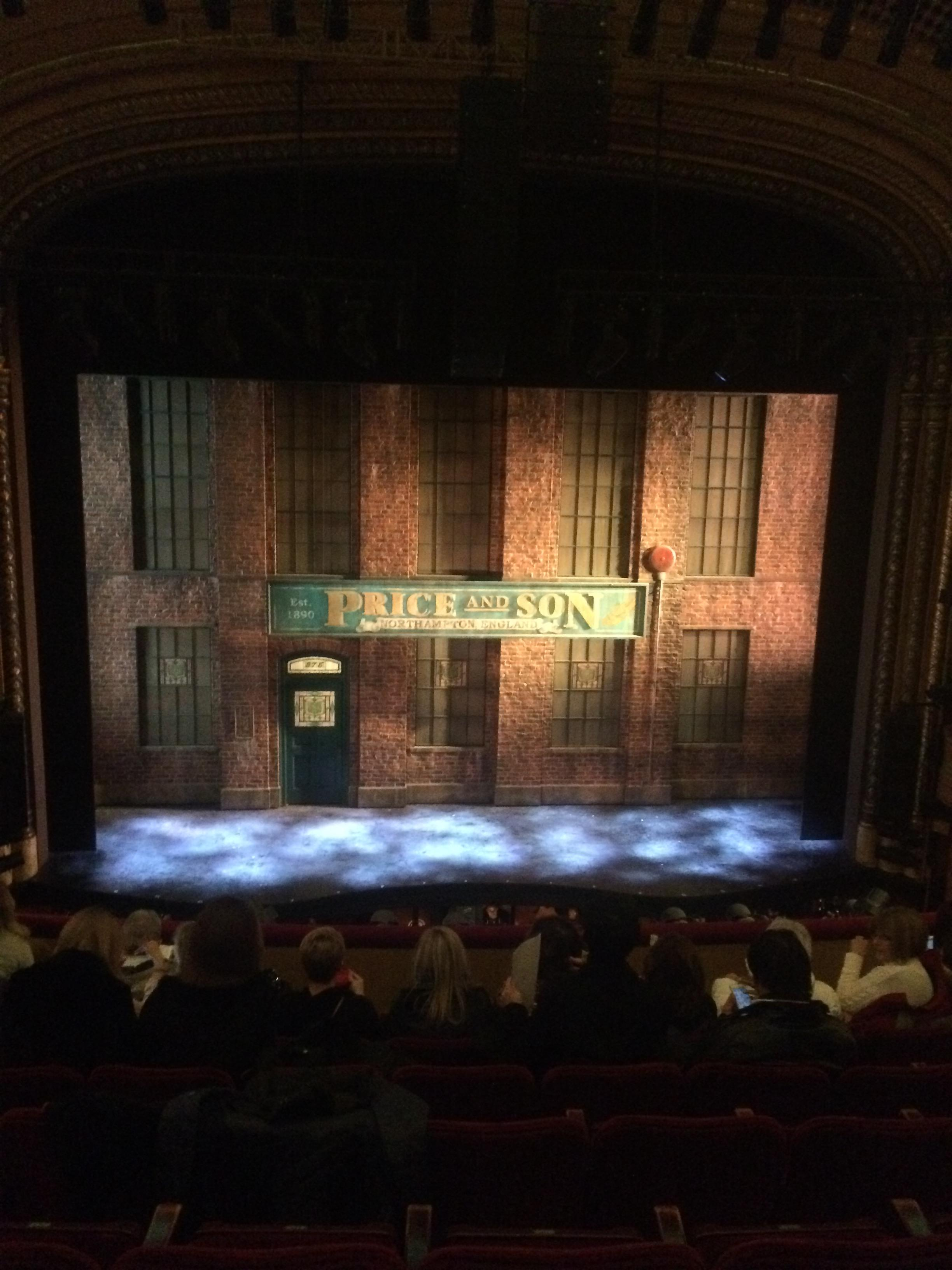 Al Hirschfeld Theatre Section Mezz Center Row H Seat 110