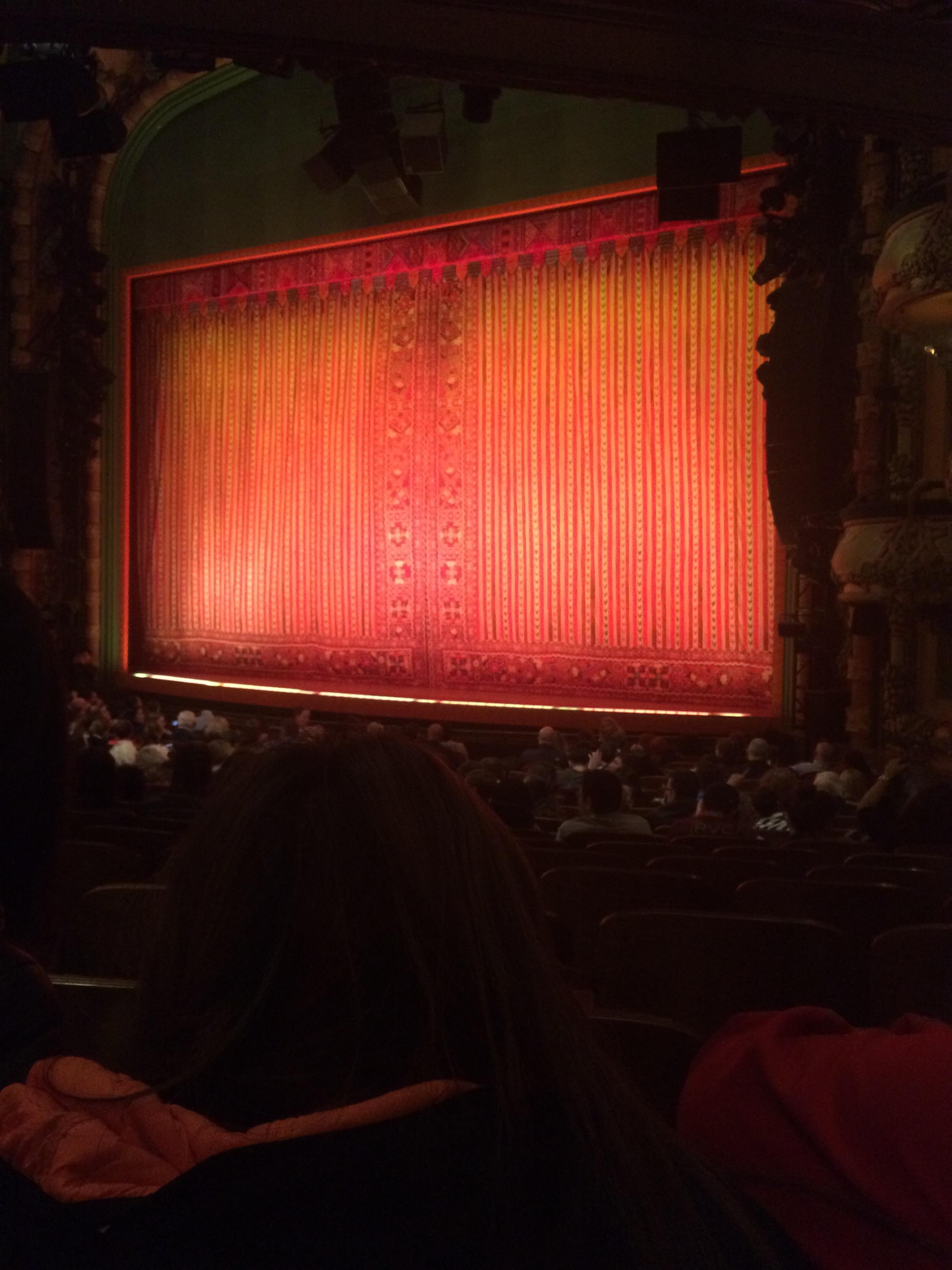 New Amsterdam Theatre Section Orchestra R Row S Seat 20