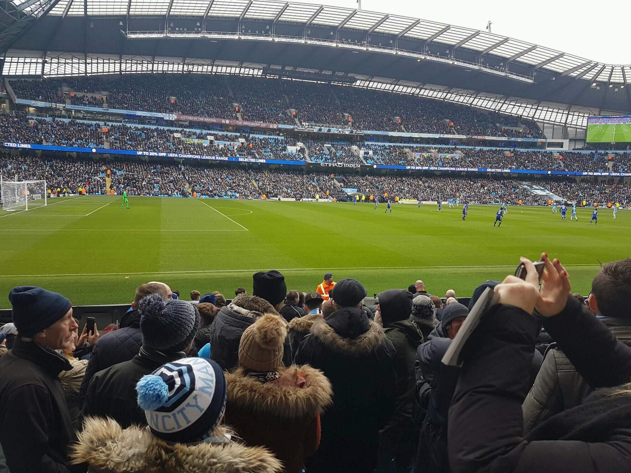 Etihad Stadium (Manchester) Section 109 Row L Seat 201