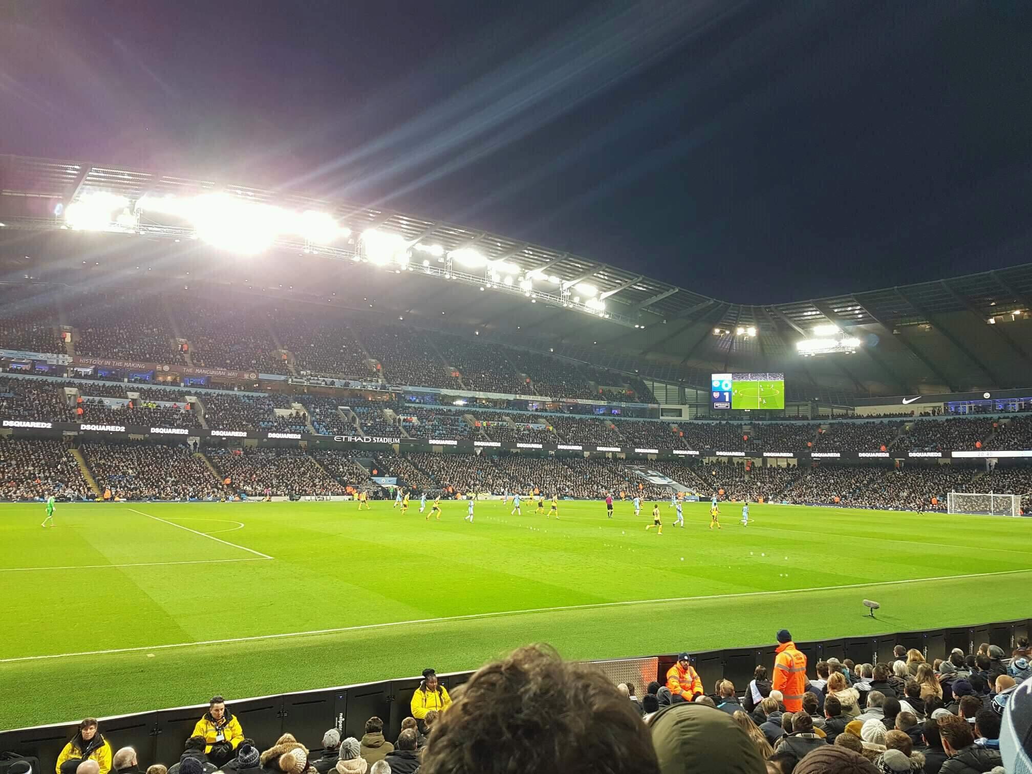 Etihad Stadium (Manchester) Section 109 Row L Seat 220