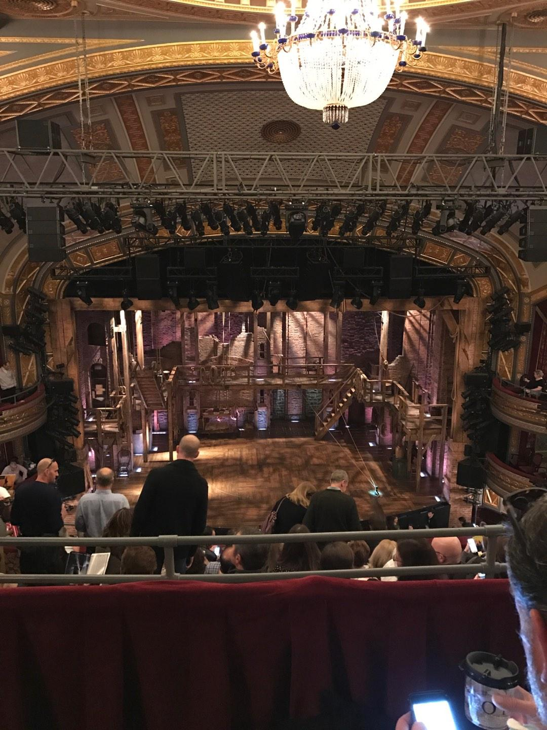 Richard Rodgers Theatre Section Rear Mezz Center Row B Seat 109