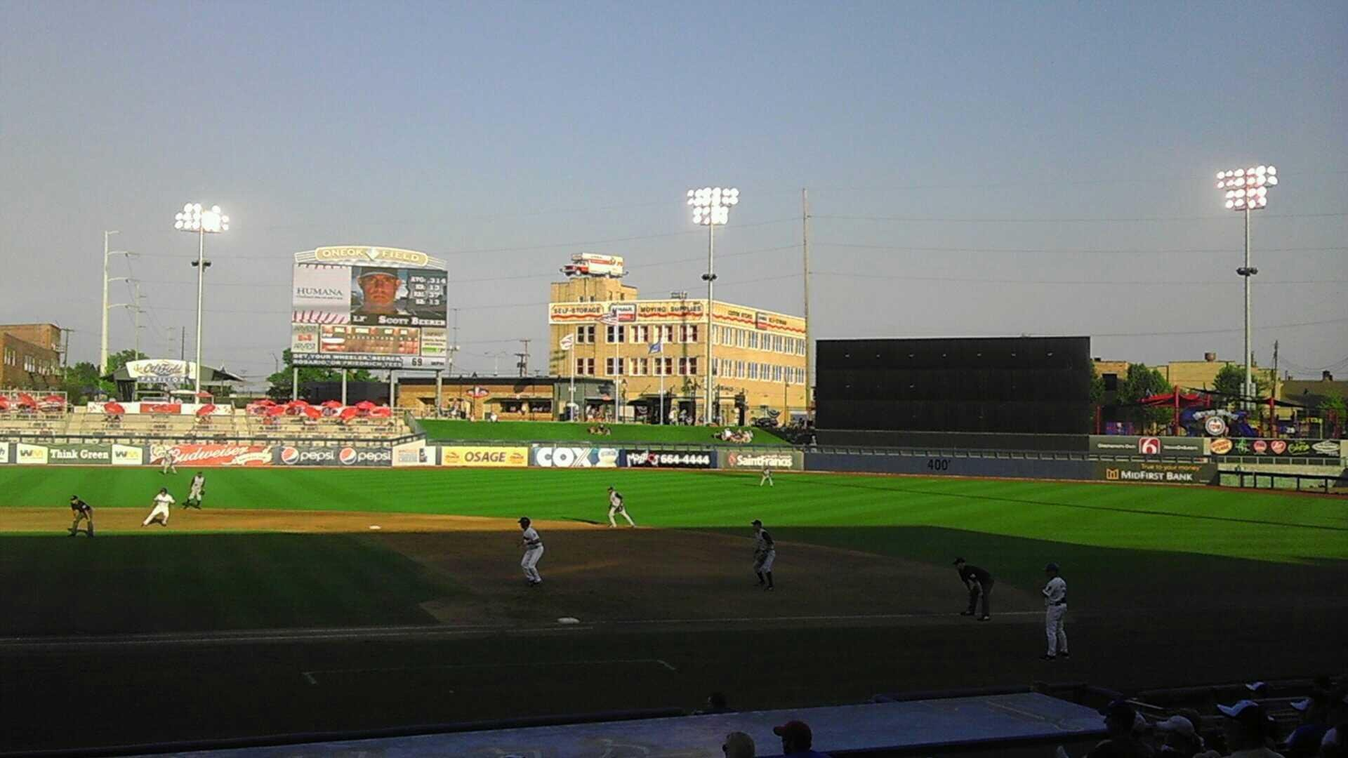 ONEOK Field Section 101 Row M Seat 16