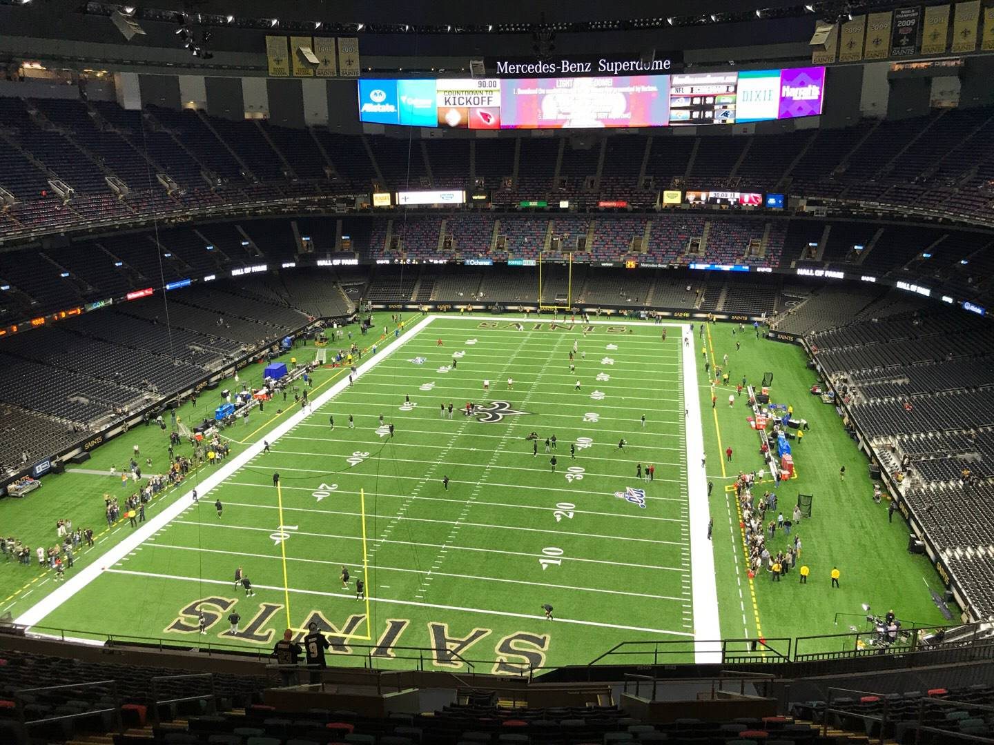 Mercedes-Benz Superdome Section 625 Row 21 Seat 11