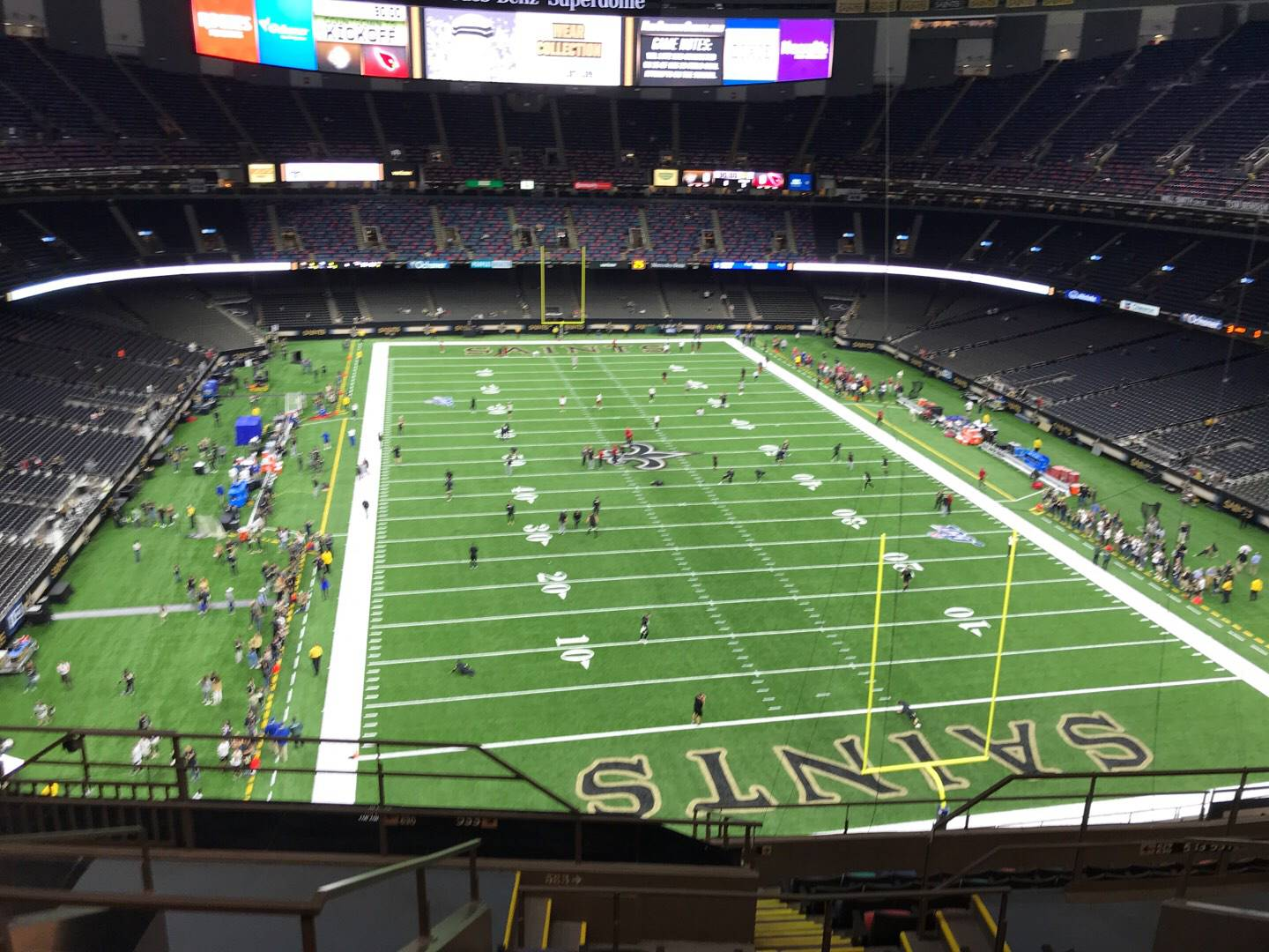 Mercedes-Benz Superdome Section 629 Row 9 Seat 13