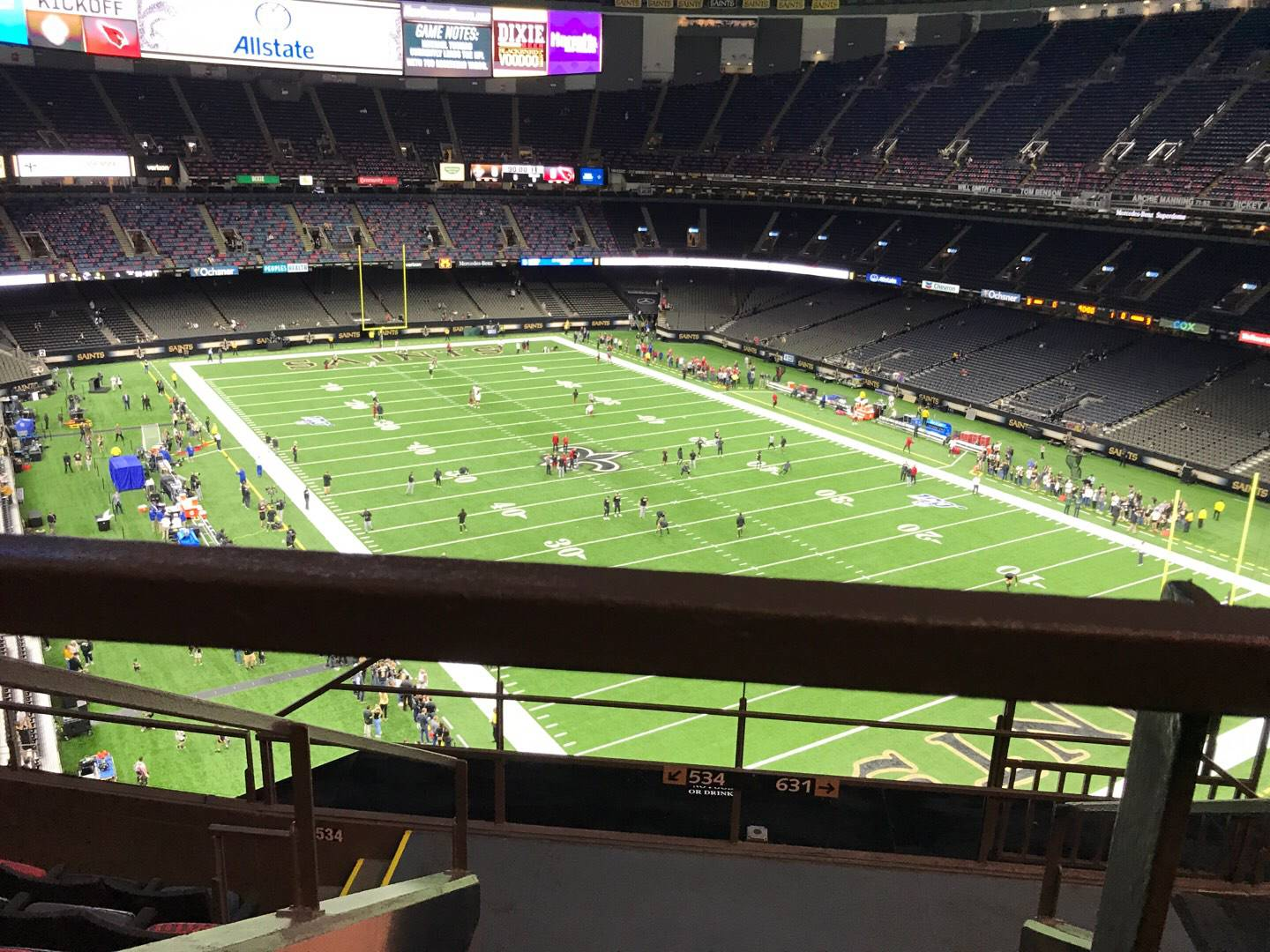 Mercedes-Benz Superdome Section 633 Row 6 Seat 3