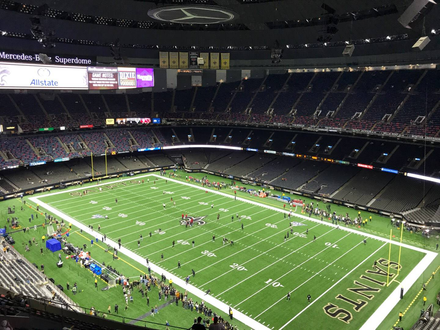 Mercedes-Benz Superdome Section 633 Row 25 Seat 23
