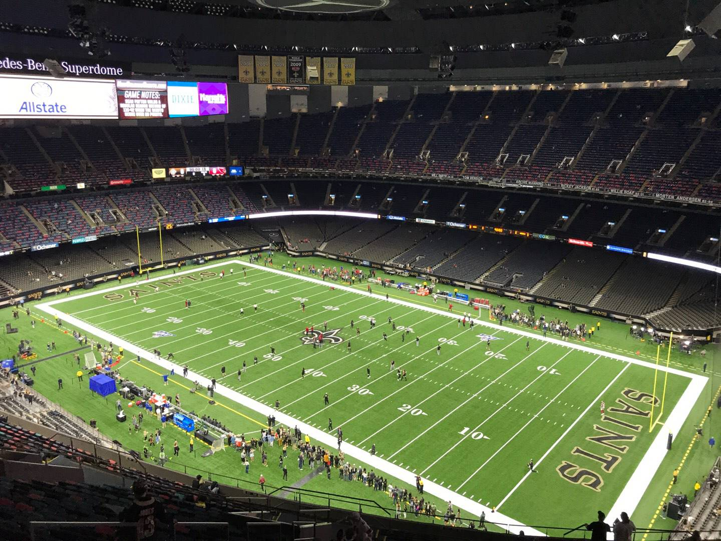 Caesars Superdome Section 634 Row 28 Seat 17