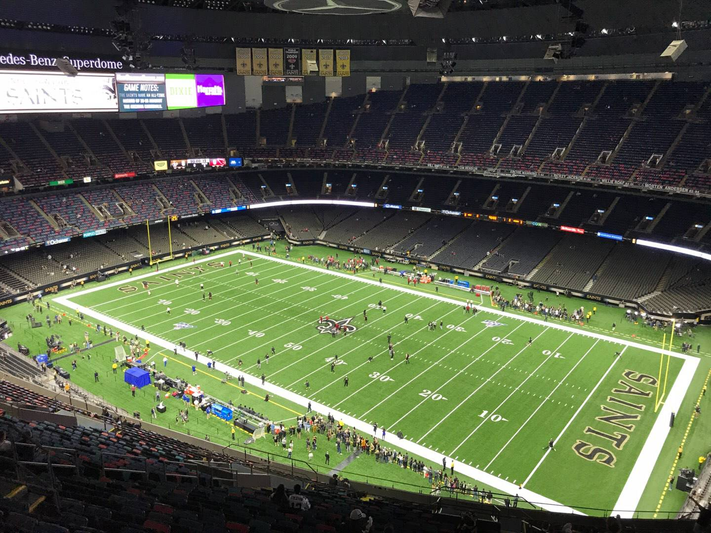 Mercedes-Benz Superdome Section 635 Row 34 Seat 3