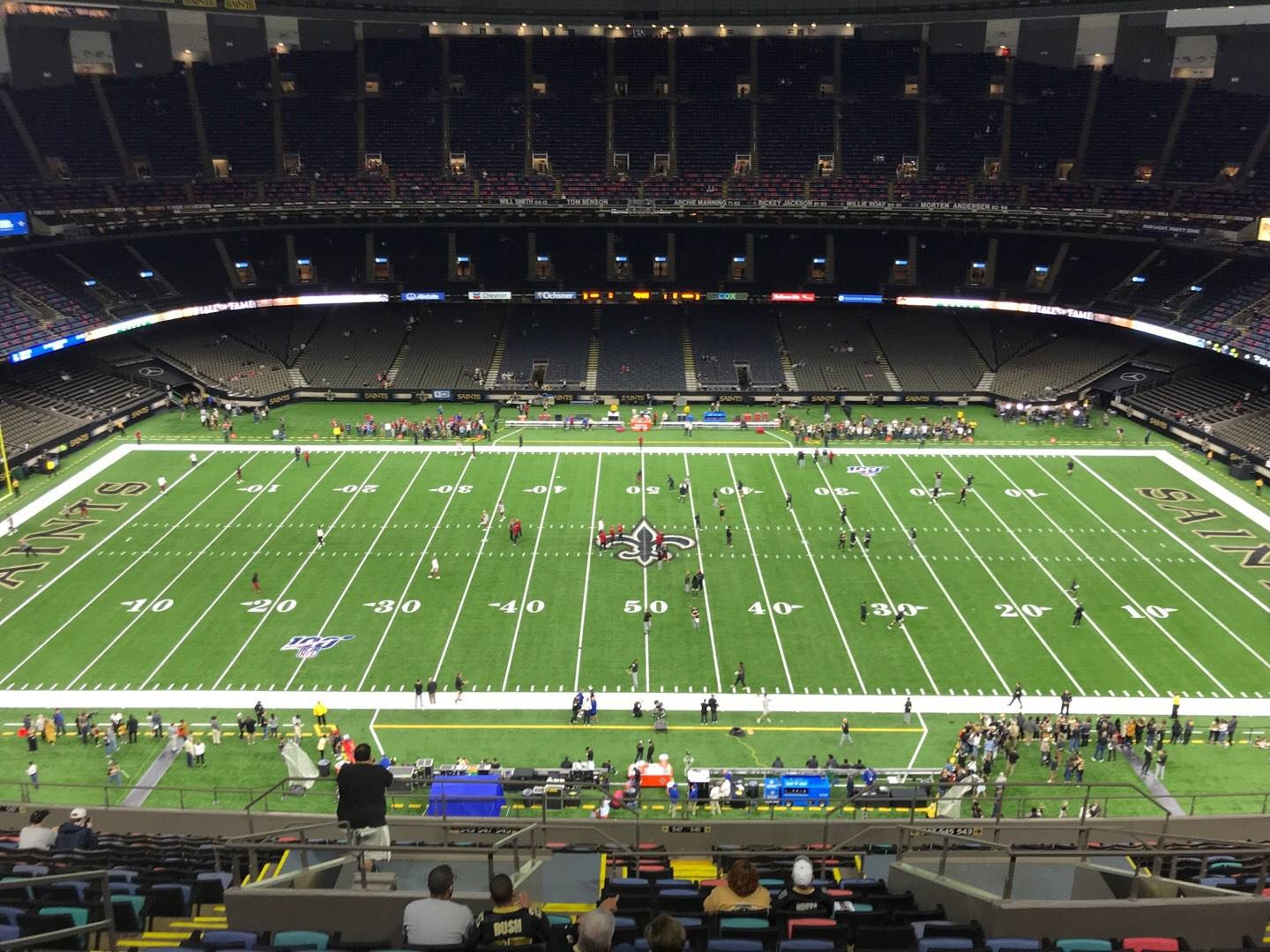Mercedes-Benz Superdome Section 640 Row 20 Seat 10