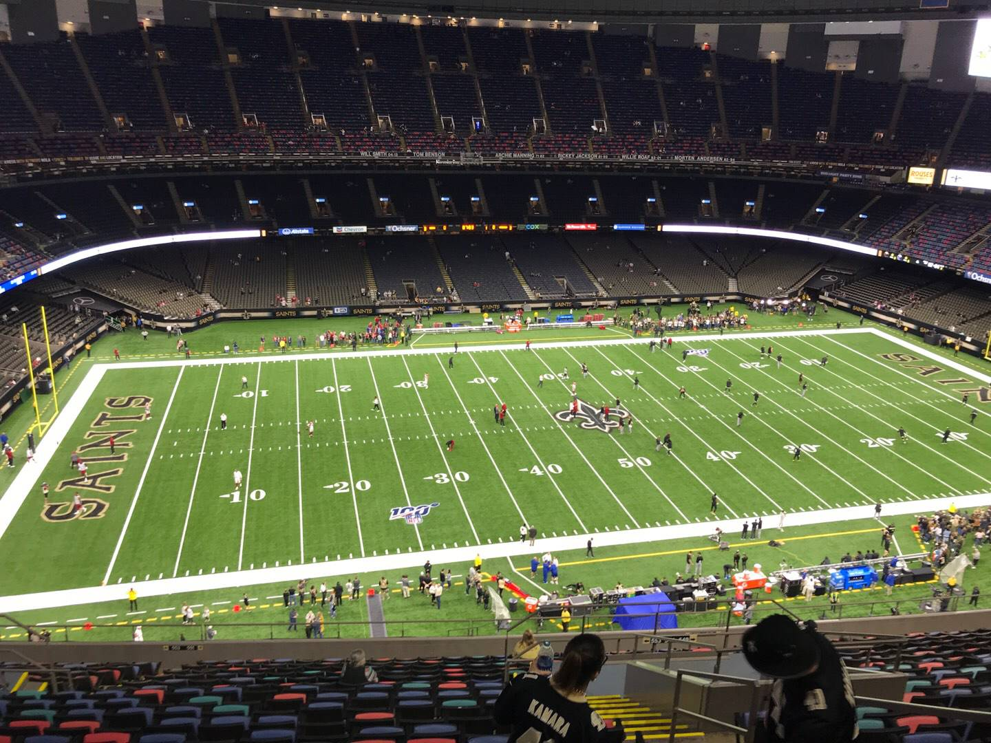 Mercedes-Benz Superdome Section 643 Row 20 Seat 4