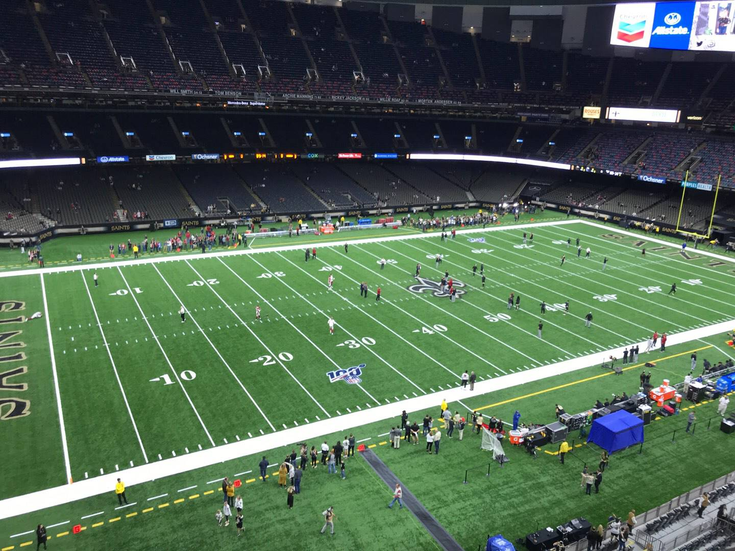 Mercedes-Benz Superdome Section 554 Row 2 Seat 4