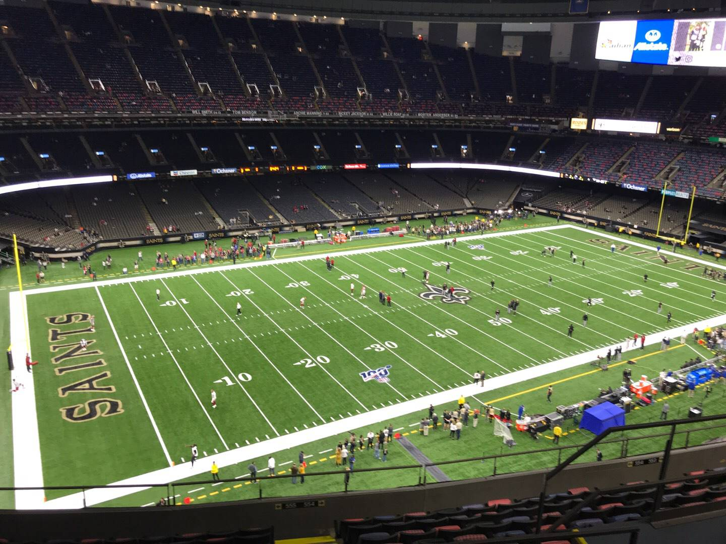 Mercedes-Benz Superdome Section 645 Row 11 Seat 7