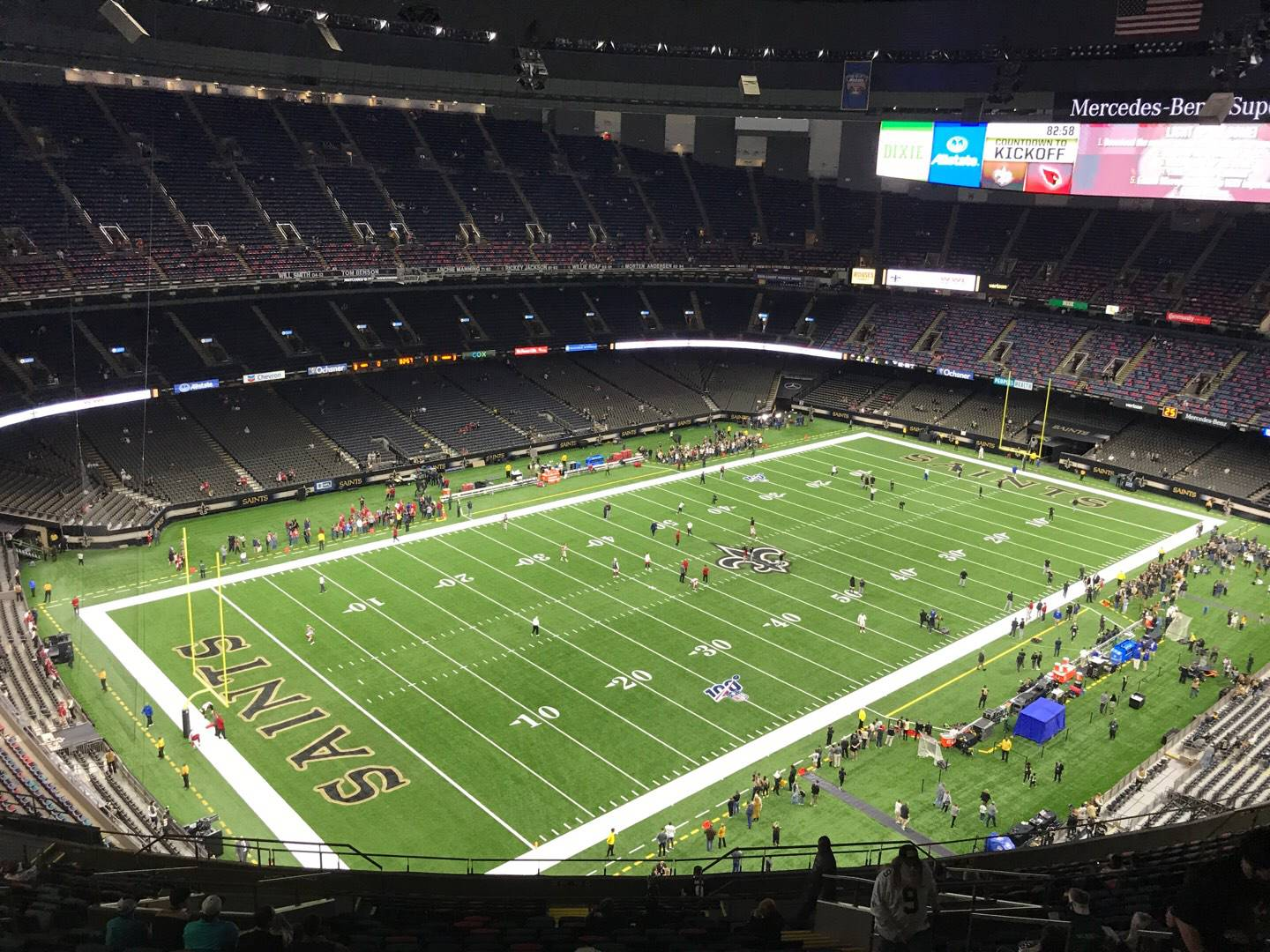 Mercedes-Benz Superdome Section 647 Row 26 Seat 9