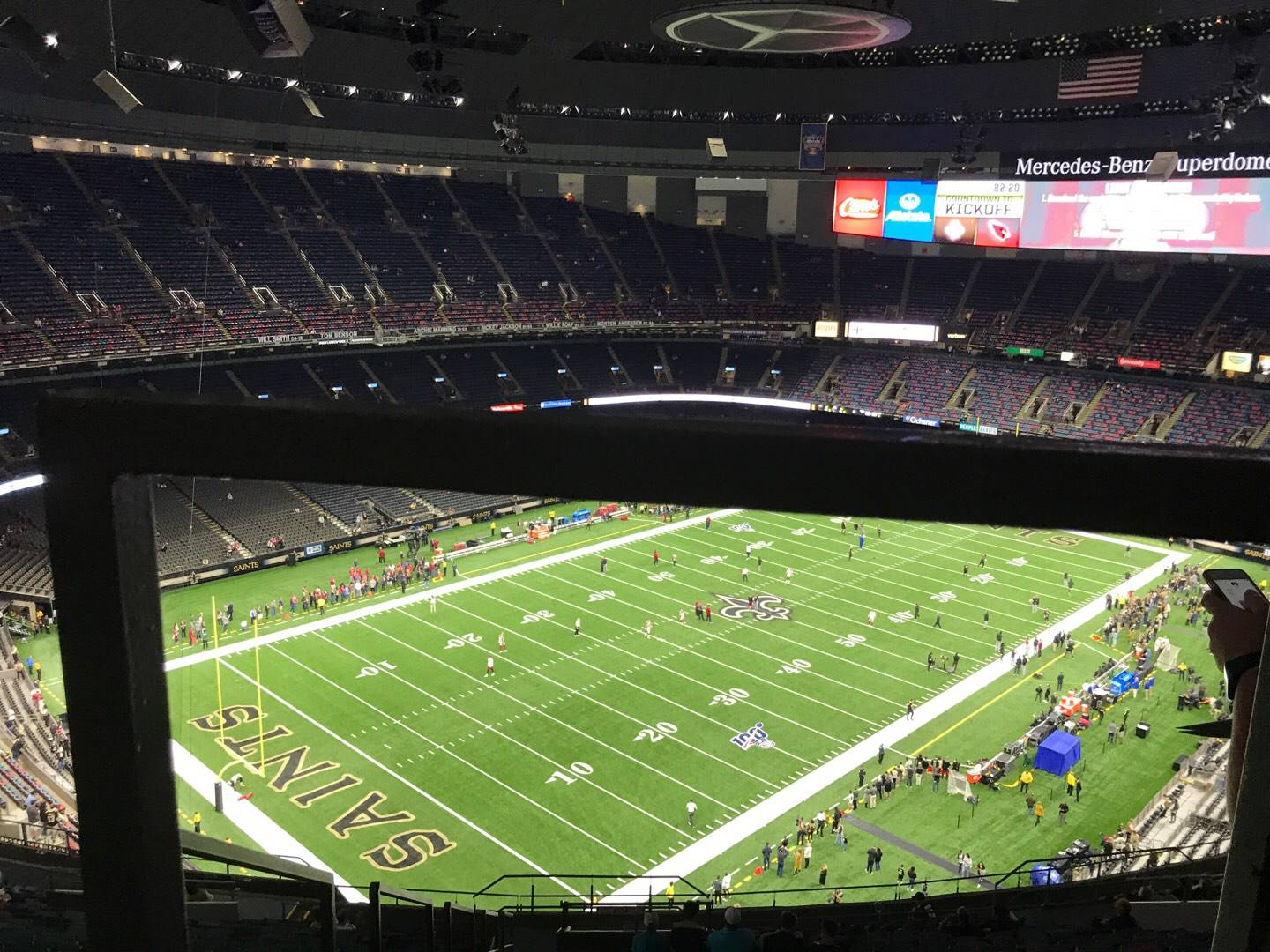 Mercedes-Benz Superdome Section 647 Row 26 Seat 21
