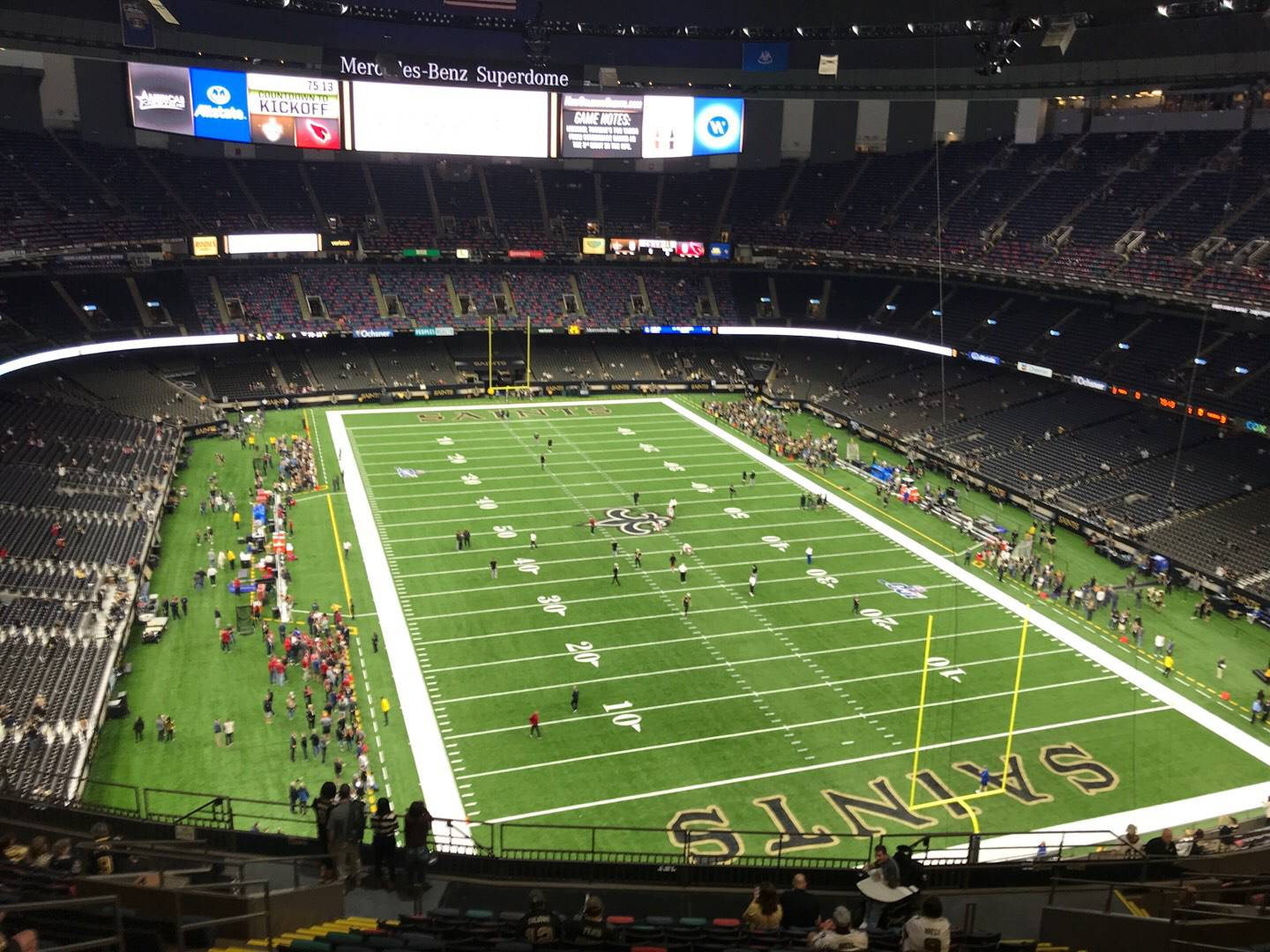 Caesars Superdome Section 604 Row 19 Seat 14