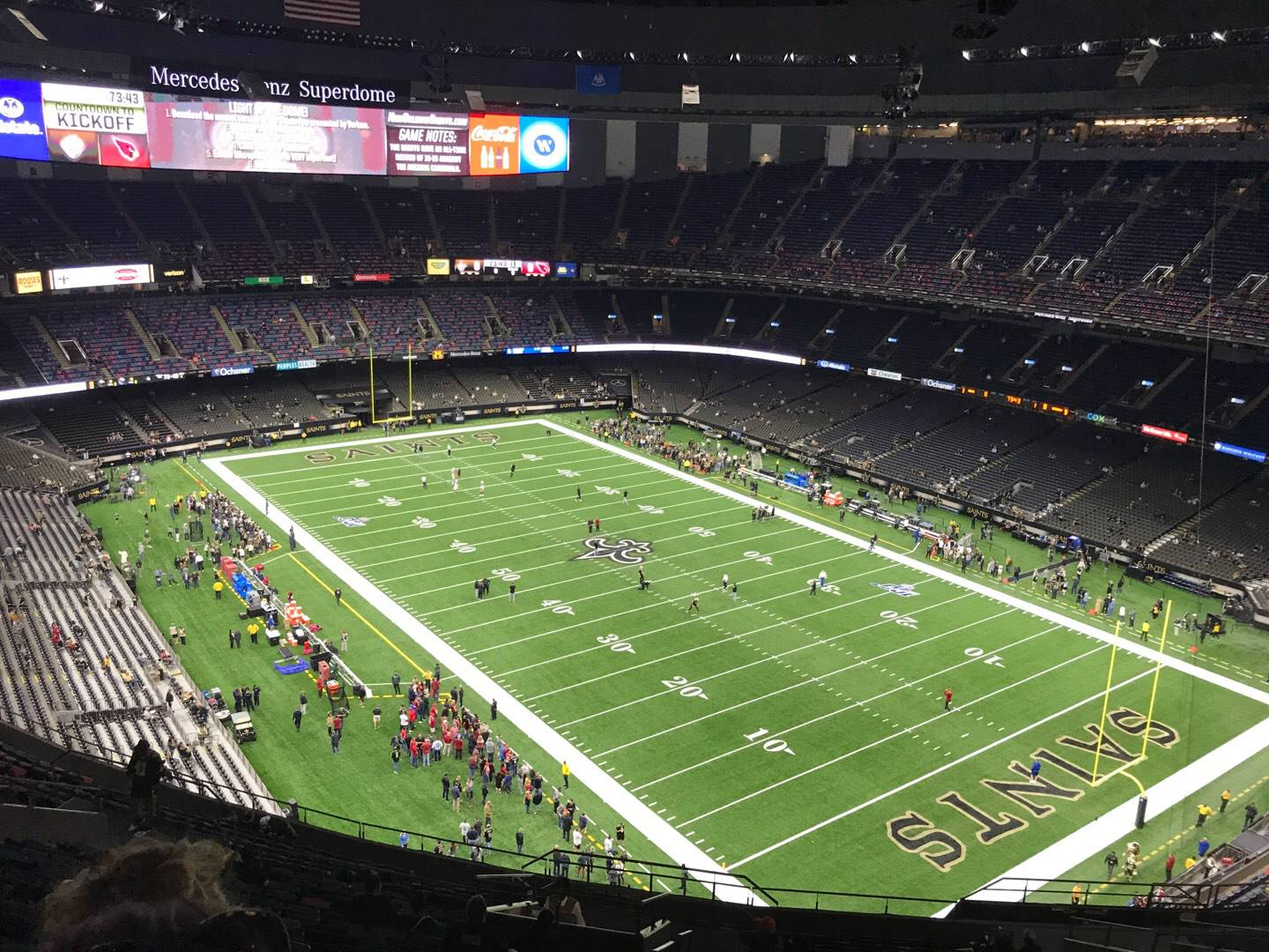 Mercedes-Benz Superdome Section 606 Row 25 Seat 22