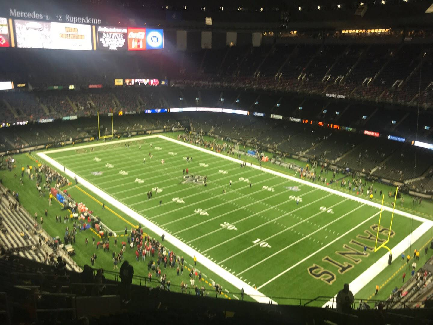Mercedes-Benz Superdome Section 607 Row 22 Seat 12