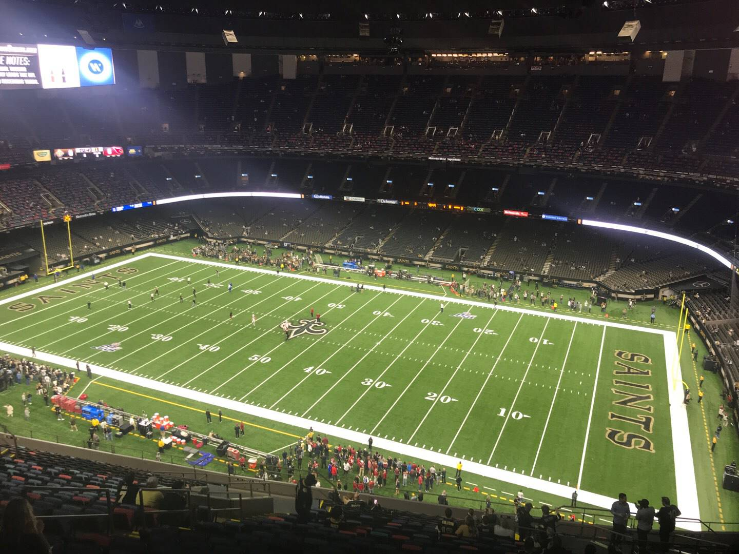 Caesars Superdome Section 610 Row 26 Seat 14