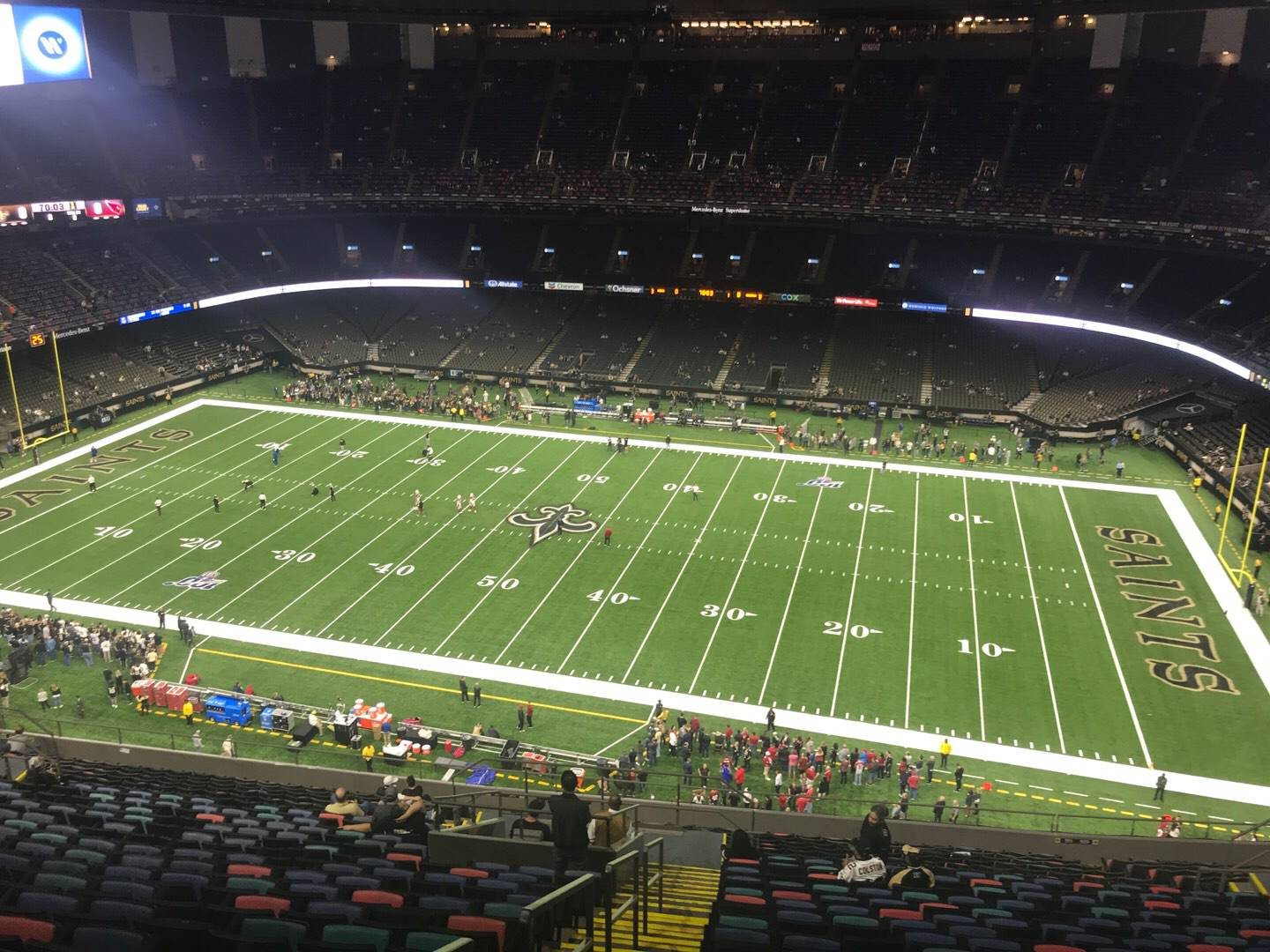 Mercedes-Benz Superdome Section 611 Row 24 Seat 23