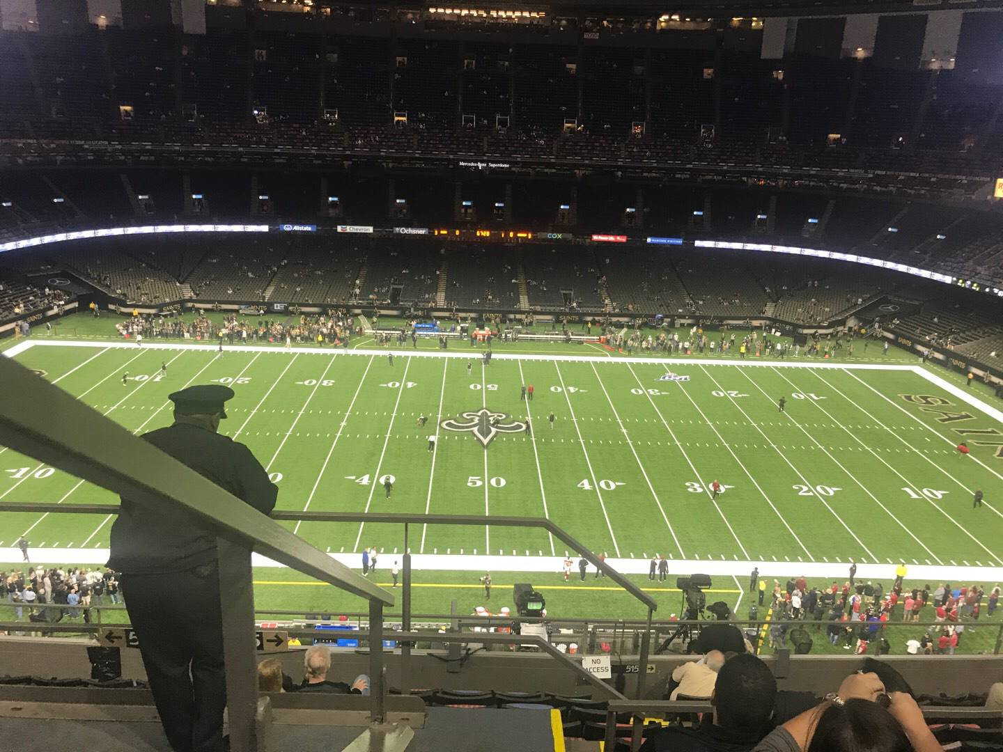 Mercedes-Benz Superdome Section 614 Row 10 Seat 11