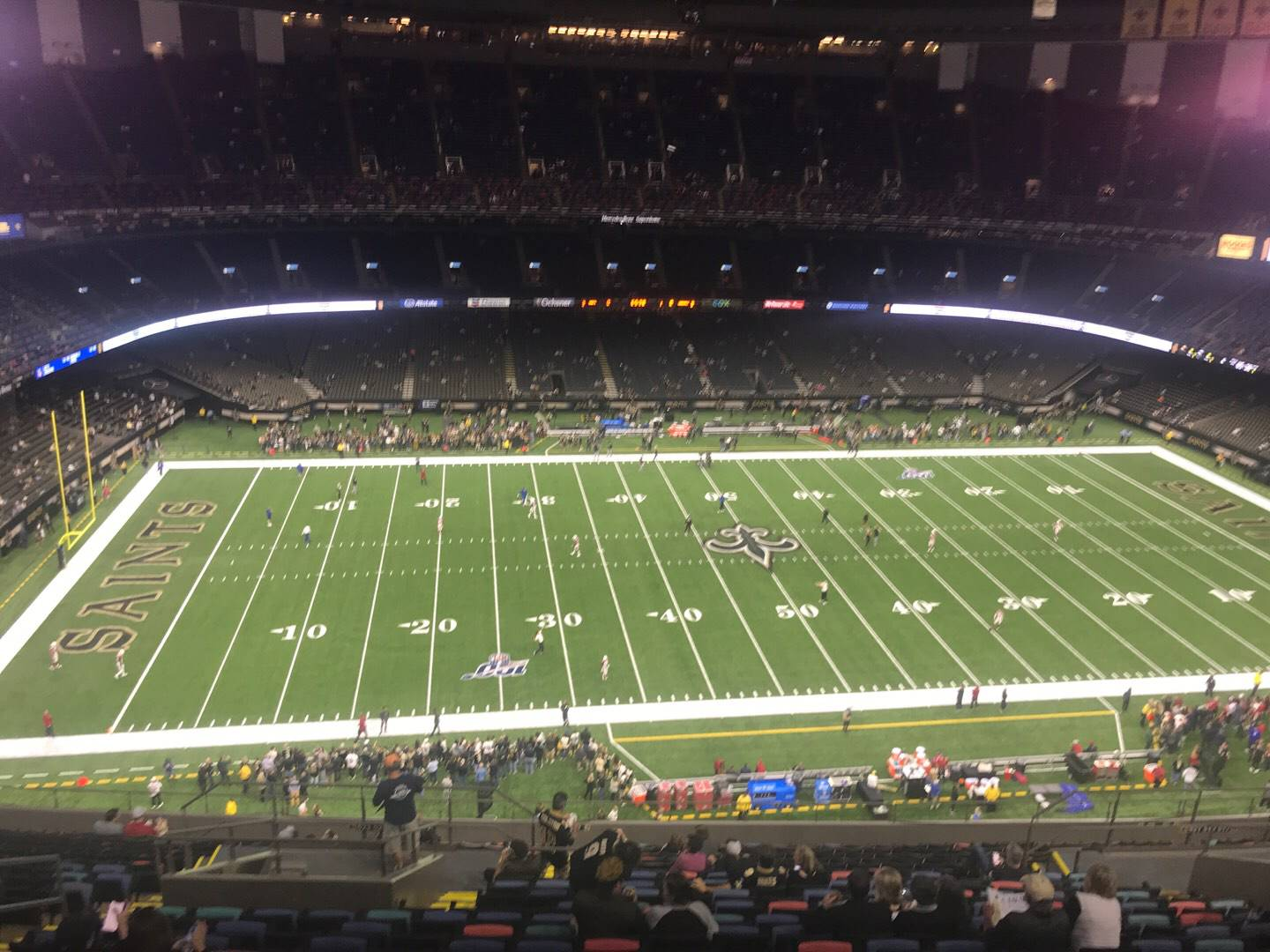 Mercedes-Benz Superdome Section 616 Row 22 Seat 15