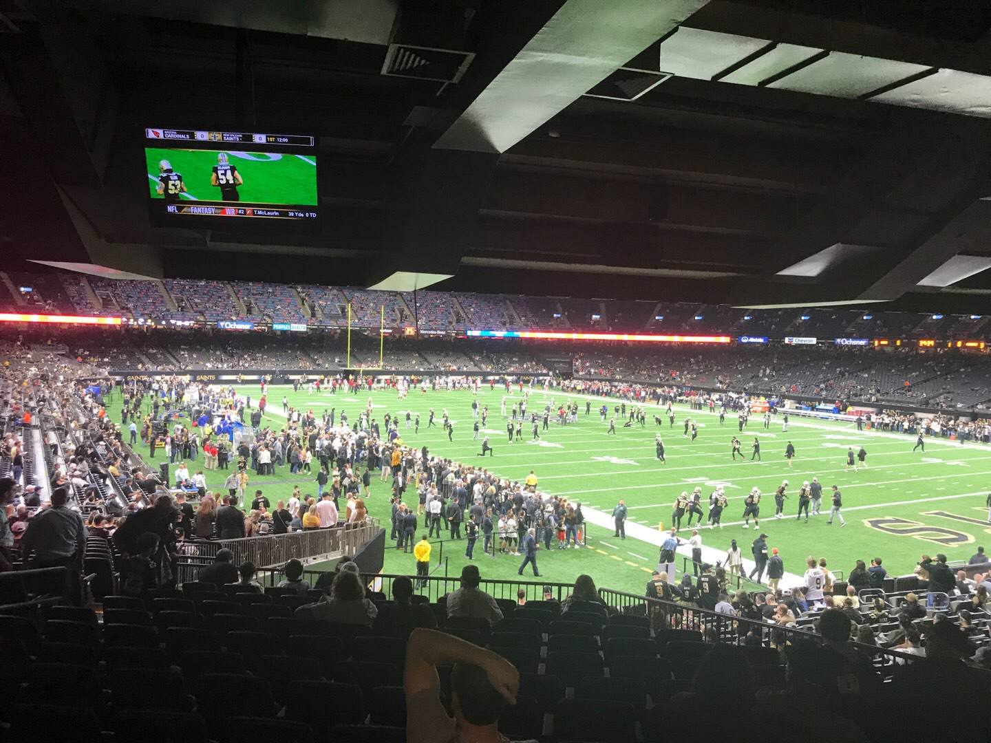 Mercedes-Benz Superdome Section 134 Row 35 Seat 10