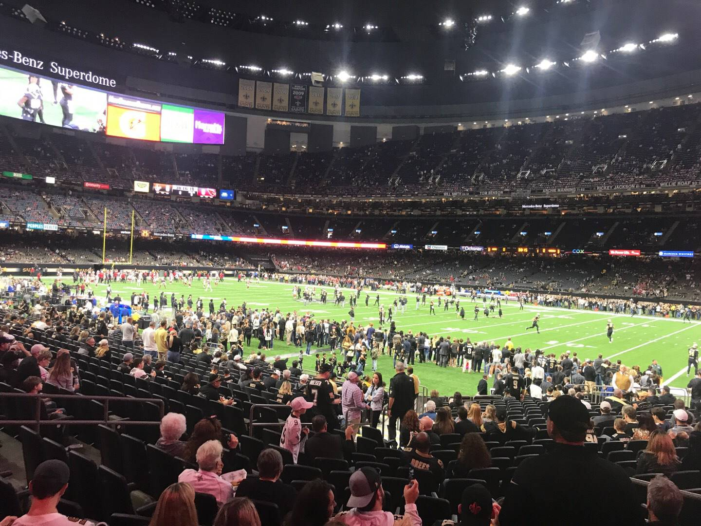 Mercedes-Benz Superdome Section 137 Row 22 Seat 7