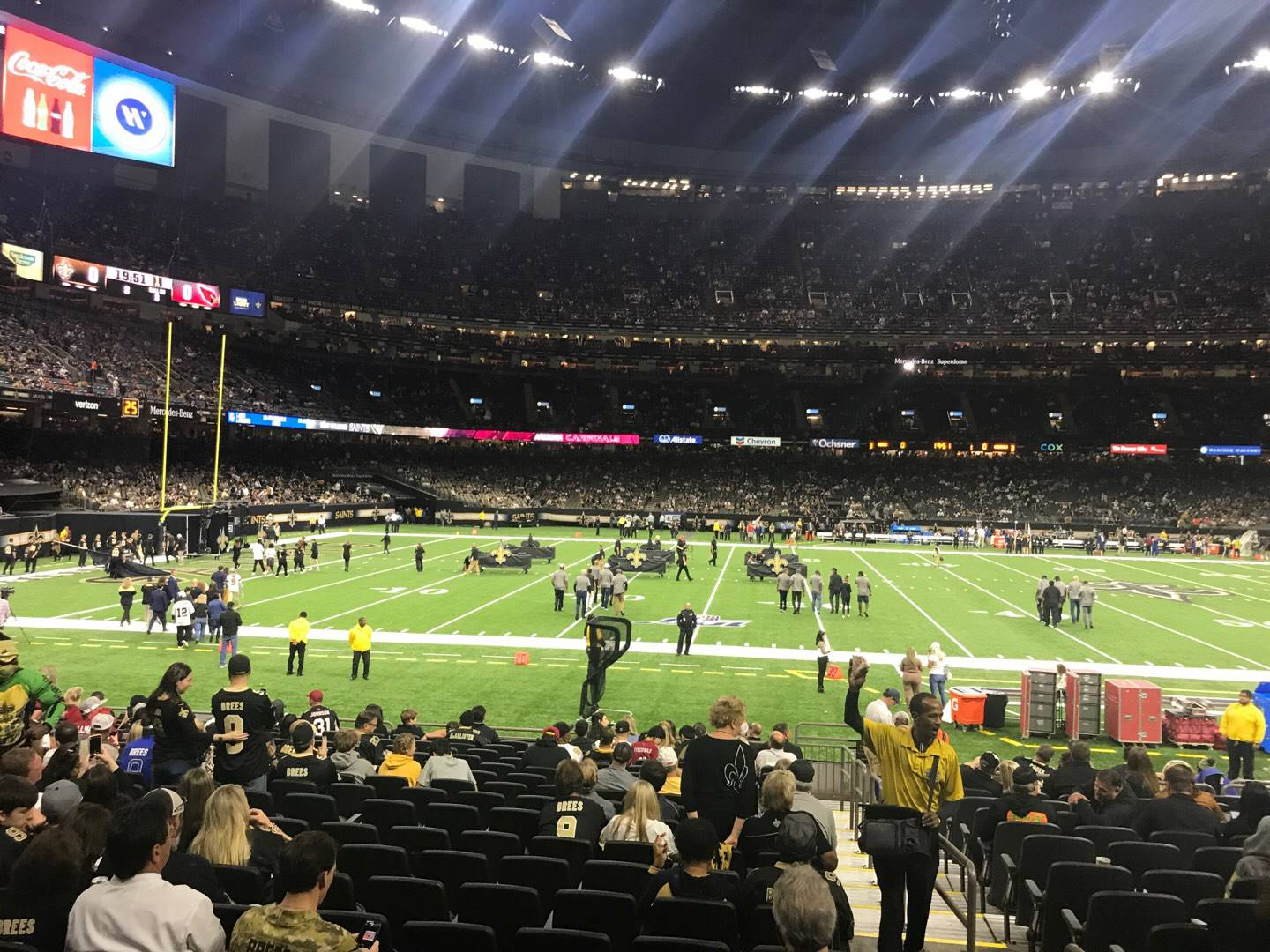 Mercedes-Benz Superdome Section 116 Row 19 Seat 1