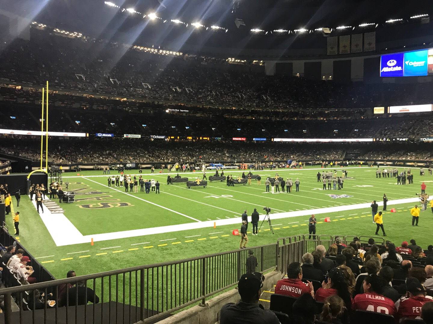 Mercedes-Benz Superdome Section 121 Row 21 Seat 18