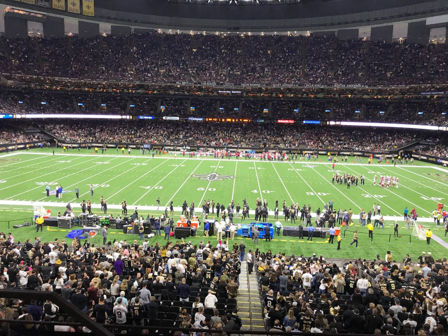 Mercedes-Benz Superdome Section 335 Row 9 Seat 19