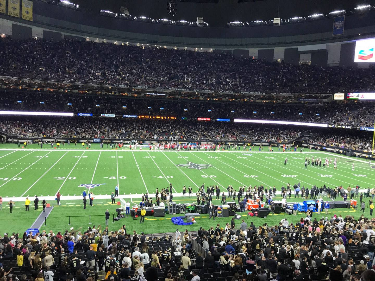 Mercedes-Benz Superdome Section 338 Row 9 Seat 5