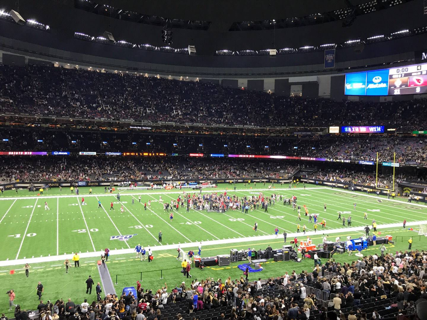Mercedes-Benz Superdome Section 339 Row 9 Seat 7